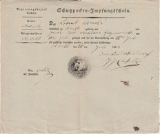 Preussen - St. Vith Kreis Malmedy RB Aachen Schutzpocken-Impfungsschein 1829 - Non Classificati
