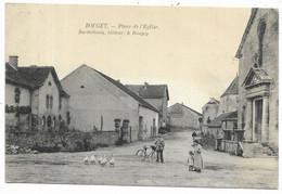 70-BOUGEY- Place De L'Eglise...1912  Animé   Facteur à Vélo... - Other Municipalities