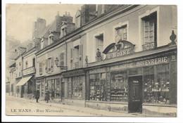 72-LE MANS- Rue Nationale...1907 Animé  (plis) Bijouterie-Horlogerie... E. BOINE 31 Rue Nationale - Le Mans