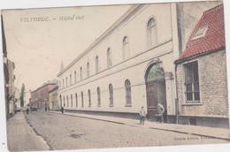 Vilvoorde - Burgerlijk Ziekenhuis (gekleurde Versie) (decrée) (gelopen Kaart Met Zegel) - Vilvoorde