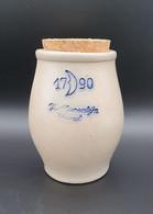 Pot à Moutarde VVE TIERENTEIJN Gent 1790 +bouchon Ht 11.5cm  #belgium #moutardier #gres #TBE #rare - Unclassified
