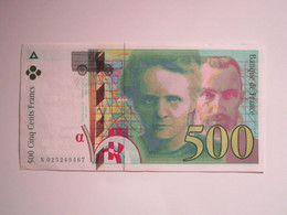 1994 Billet 500 Francs Pierre Et Marie Curie - 500 F 1994-2000 ''Pierre Et Marie Curie''