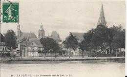 Carte Postale Ancienne De La Flèche La Promenade Vue Du Loir - La Fleche