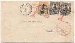 (C01) - HAITI - AIR MAIL COVER - P AU P => JEREMIE 1928 - FANCY COMMEMORATIVE CANCELLATION LINDBERGH - Haiti