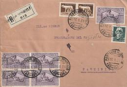 Busta - Regno - Raccomandata - 5x30 Cent + Cent 15 + 2x5 Cent Lupa - Marcofilie