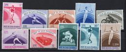 1954 San Marino - Propaganda Sportiva 2 N. 409 - 418 Serie Completa Nuova MLH* - Ongebruikt