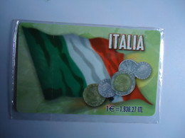 ITALY MINT GREECE  PHONECARDS  COINS ANS FLAGS  2 SCAN - Unclassified