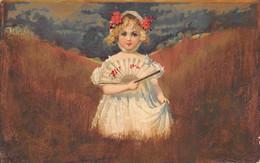 ¤¤  -   ILLUSTRATEUR    -  Petite Fille Avec Un Eventail Dans La Campagne  -  Bonne Année        -  ¤¤ - 1900-1949
