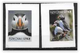 Féroé 2021 Série Adhésifs Neuve Europa Oiseaux Macareux - Isole Faroer