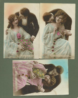 CARTES POSTALES FANTAISIE EDITION LEO COUPLE AMOUREUX EVENTAIL SERIE N°308 - Other
