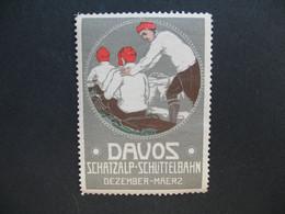 Vignette - Label Stamp - Cinderella  Allemagne  Davos Schatzalp - Schilittelbahn Dezember-Maerz - Other