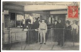 75-PARIS- Les Guichets D'une Gare Souterraine Du Métropolitain... 1907  Animé - Pariser Métro, Bahnhöfe