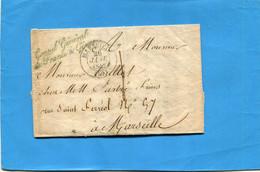 """Marcophilie-lettre """"consul Général De Françe à GENES""""""""janvier 1842 - 1801-1848: Precursori XIX"""