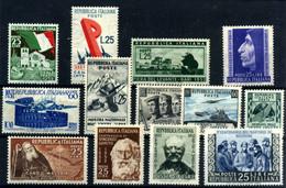 Italia Nº 631/3, 634/5, 636/9, 640, 641/2, 643. Año 1952 - 1946-60: Nuevos