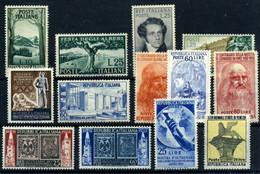 Italia Nº 618/21, 622, 623/6, 627/30. Año 1951/52 - 1946-60: Nuevos