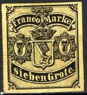 Germania Brema 1855 Unif.3 (*)/MNG F - Brême