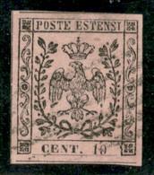 Modena - 1852 - 10 Cent (2) - Grandi Margini - Usato - Molto Bello - Non Classificati