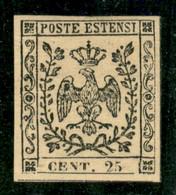 Modena - 1852 - 25 Cent (4) - Gomma Originale (bruna) - A.Fiecchi - Non Classificati