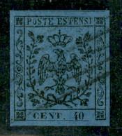 Modena - 1852 - 40 Cent (6) - Ottimi Margini - Usato - Molto Bello - Fiecchi - Non Classificati