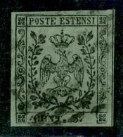 Modena - 1852 - 5 Cent (8e - Varietà) - Punto Grosso Dopo Cent - Parziale Doppio Filetto In Alto (non Catalogato) - Usat - Non Classificati