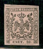 Modena - 1852 - 10 Cent (9h) - Errore CNET - Molto Bello - Gomma Originale - A.Diena - Non Classificati