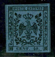 Modena - 1854 - 40 Cent (10) - Stampa Oleosa - Grandi Margini - Gomma Originale (tedesca) - Molto Bello - Non Classificati