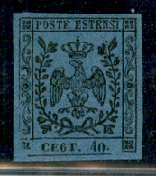 Modena - 1854 - 40 Cent (10c) - Errore CE6T - Ottimamente Marginato - Gomma Originale - Molto Bello - Emilio Diena + Fie - Non Classificati