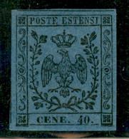 Modena - 1854 - 40 Cent (10d) - Errore CENE - Stampa Oleosa - Ottimamente Marginato - Gomma Originale (tedesca) - Molto  - Non Classificati