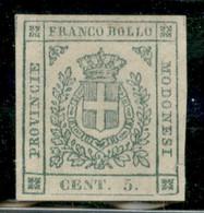 Modena - 1859 - Governo Provvisorio - 5 Cent (12) - Ben Marginato - Senza Gomma - Ottime Condizioni - Non Classificati