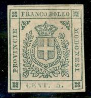 Modena - 1859 - Governo Provvisorio - 5 Cent (12) - Gomma Originale - Fiecchi - Non Classificati