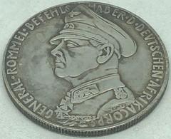 RÉPLICA Medalla Mariscal Erwin Rommel. Afrika Korps. Batalla De Tobruk. 1941. II Guerra Mundial, Alemania. - Duitsland