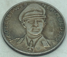 RÉPLICA Medalla Piloto Werner Molders. Lutfwaffe. Legión Cóndor. Guerra Civil Española. 22-XI-1941. II Guerra Mundial, - Duitsland