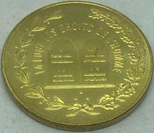 RÉPLICA Jetón Francmasonería. (1799-1800). Logia Derechos Del Hombre, Francia. Rara. - Avant 1871