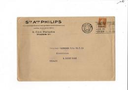 Enveloppe Sté Ame  PHILIPS  PARIS  1930 - 1900 – 1949