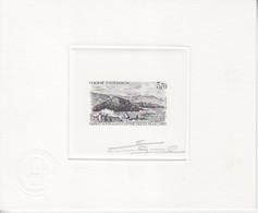 Epreuve D'Artiste En Noire Signée E. Lacaque Du N° 200 (Le Mont D'Alsace) 3,70F, Format 160 X 130 - Brieven En Documenten