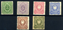 Alemania Imperio Nº 36/41. Año 1879 - Neufs