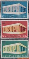 Cyprus 1969 - Mi:319/321, Yv:311/313, Stamp - XX - Europe 1969 Temple - Nuovi