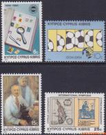 Cyprus 1984 - Mi:619/622, Yv:615/618, Stamp - XX - Birthdays And Events - Nuovi