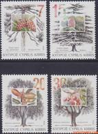 Cyprus 1994 - Mi:827/830, Yv:829/832, Stamp - XX - Trees In Cyprus - Nuovi
