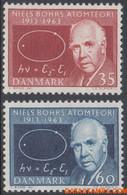 Denemarken 1963 - Mi:417/418, Yv:429/430, Stamp - XX - Nobel Prize Niels H. D. Bohr - Nuevos