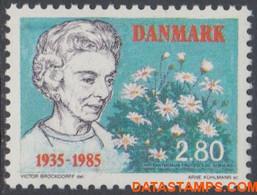 Denemarken 1985 - Mi:838, Yv:843, Stamp - XX - Queen Ingrid - Nuevos