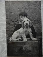 Photo Carte Postale - Un Adolescent Et Son Chien - - Unclassified