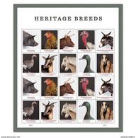 US Stamps 2021-Pre-order ( 17.05.21 ) - Hereditary Breeds . Sheet Of 20 Stamps - Ongebruikt