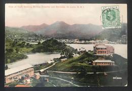 Grande Bretagne Colonies 1917 St Lucia Pour Flers De L'Orne France - St.Lucia (...-1978)
