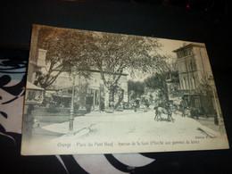 Cartes Postale Vaucluse Orange Place Du Pont Neuf Avenue De La Gare Cavaliers Animée - Orange