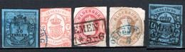 Germania Oldemburgo 1852/62 5 Val.  O/UsedF - Oldenburg