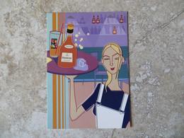 CPM Publicité - Alcool Cognac Hennessy Serveuse Plateau Illustrateur - 10/15 Cm Go Card - Advertising