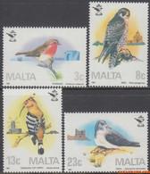 Malta 1987 - Mi:762/765, Yv:743/746, Stamp - XX - Ornitological Association - Malta
