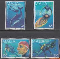 Malta 1998 - Mi:1043/1046, Yv:1017/1020, Stamp - XX - International Year Of The Oceans - Malta