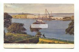Sydney Harbour - Naval Depot, Garden Island - 1904 Used Australia Postcard - Sydney